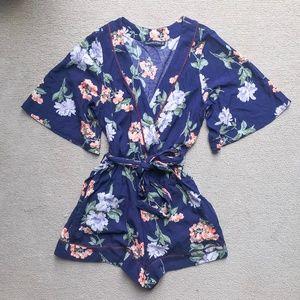 Abercrombie & Fitch Kimono Wrap Romper - size XS